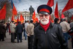 Partido de comunistas en un primero de mayo Fotografía de archivo