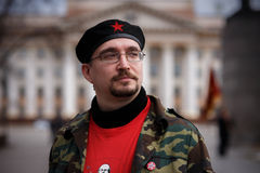 Partido de comunistas en un primero de mayo Foto de archivo libre de regalías
