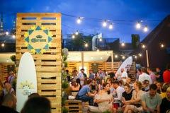 Partido de Corona Sunsets Session en Zagreb, Croacia imagen de archivo
