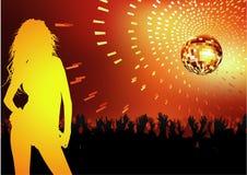 Partido de danza del disco Fotografía de archivo