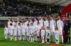 Partido de desempate 2016 del EURO de la UEFA para el final: Eslovenia v Ucrania Imagen de archivo