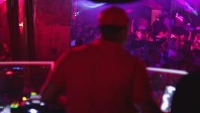 Partido de disco de la noche DJ almacen de metraje de vídeo