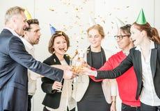 Partido de escritório do ano novo Foto de Stock