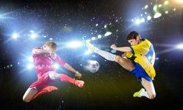 partido de fútbol Foto de archivo libre de regalías