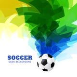 Partido de fútbol abstracto stock de ilustración