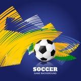 Partido de fútbol abstracto ilustración del vector