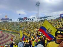 Partido de fútbol de Ecuador Imagenes de archivo