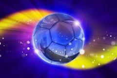 Partido de fútbol de la fantasía stock de ilustración