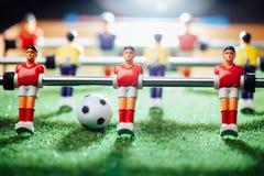 Partido de fútbol de la tabla, luz abstracta Foto de archivo libre de regalías
