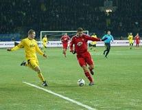Partido de fútbol de la UEFA de Metalist - de Debreceni Fotografía de archivo libre de regalías