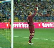 Partido de fútbol de las personas nacionales de Ucrania - de Suecia Imágenes de archivo libres de regalías