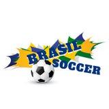 Partido de fútbol del Brasil stock de ilustración
