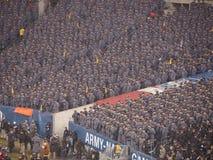 Partido de fútbol 2013 del cuenco de la nieve de la marina de guerra del ejército Imagen de archivo