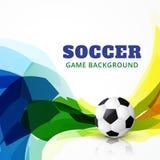 Partido de fútbol del vector ilustración del vector