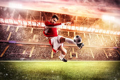 Partido de fútbol en el estadio Imagen de archivo