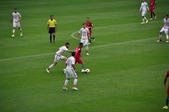 Partido de fútbol entre Portugal y México en Moscú el 2 de junio de 2017 Imagenes de archivo