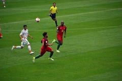 Partido de fútbol entre Portugal y México en Moscú el 2 de junio de 2017 Imagen de archivo libre de regalías