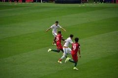 Partido de fútbol entre Portugal y México en Moscú el 2 de junio de 2017 Fotografía de archivo