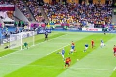 Partido de fútbol final del EURO 2012 de la UEFA Imágenes de archivo libres de regalías