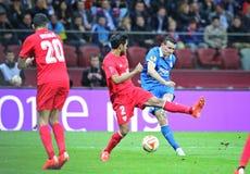 Partido de fútbol final Dnipro de la liga del Europa de la UEFA contra Sevilla Foto de archivo libre de regalías