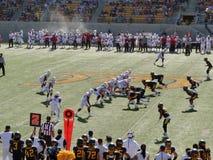 Partido de fútbol de la universidad en Berkeley Imagen de archivo