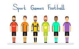 Partido de fútbol Team Sport Competition Banner Fotos de archivo libres de regalías