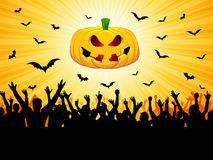 Partido de Halloween Foto de Stock Royalty Free