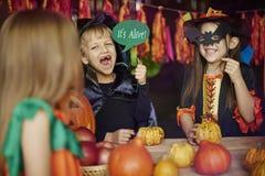 Partido de Halloween Imagens de Stock