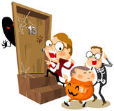 Partido de Halloween com traje Foto de Stock