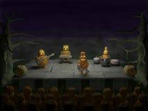 Partido de Halloween (concierto de rock, demostración) Fotos de archivo