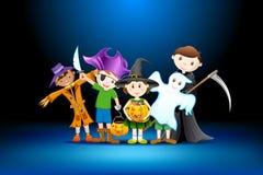 Partido de Halloween dos miúdos Fotografia de Stock Royalty Free