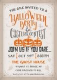Partido de Halloween e invitación de la competencia del traje Foto de archivo libre de regalías