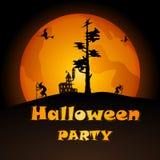 Partido de Halloween Ilustração do vetor Fotografia de Stock Royalty Free