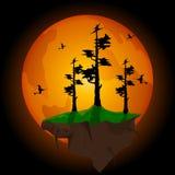 Partido de Halloween Ilustração do vetor Fotos de Stock Royalty Free