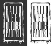 Partido 31 de Halloween octubre ilustración del vector