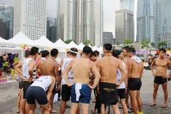 partido de HK Dragon Boat Carnival fotografia de stock