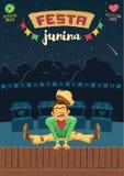 Partido de junho do brasileiro de Festa Junina - molde A5 proporcional Foto de Stock Royalty Free