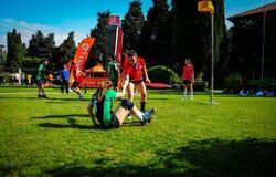 Partido de Korfball en festival de los deportes Fotografía de archivo