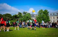 Partido de Korfball en festival de los deportes Imagenes de archivo