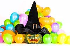 Partido de la calabaza de Halloween Imagen de archivo