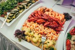 Partido de la comida de la boda del abastecimiento Foto de archivo libre de regalías