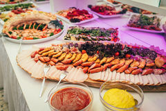 Partido de la comida de la boda del abastecimiento Fotografía de archivo