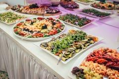 Partido de la comida de la boda del abastecimiento Fotografía de archivo libre de regalías