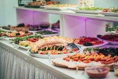 Partido de la comida de la boda del abastecimiento Imagenes de archivo
