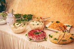 Partido de la comida de la boda del abastecimiento Imagen de archivo