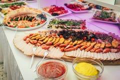Partido de la comida de la boda del abastecimiento Foto de archivo