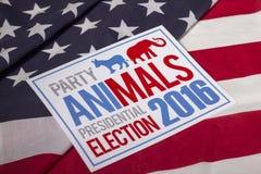Partido de la elección presidencial en bandera americana Fotografía de archivo libre de regalías