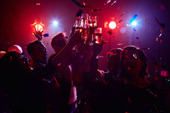 Partido de la noche Fotos de archivo libres de regalías