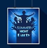 Partido de la noche de verano Foto de archivo libre de regalías