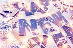 Partido de la Noche Vieja Foto de archivo libre de regalías